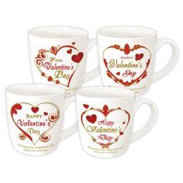48 Units of Valentines Mug Assorted Design - Valentine Decorations