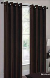 24 Units of Ramona Brown Grommet Panel - Window Curtains