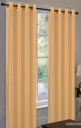 24 Units of Ramona Gold Grommet Panel - Window Curtains