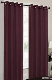 24 Units of Ramona Burgandy Grommet Panel - Window Curtains
