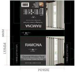 24 Units of Ramona Silver Grommet Panel - Window Curtains