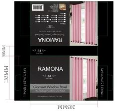 24 Units of Ramona Tearose Grommet Panel - Window Curtains