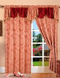 24 Units of Paula Burgundy Panel In Box - Window Curtains