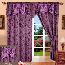 24 Units of Paula Purple Panel In Box - Window Curtains