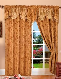 24 Units of Paula Gold Panel In Box - Window Curtains