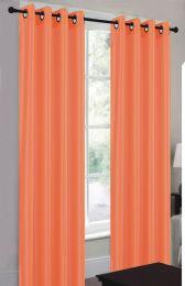 24 Units of Ramona Orange Grommet Panel - Window Curtains