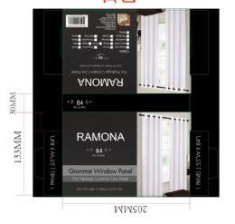 24 Units of Ramona White Grommet Panel - Window Curtains