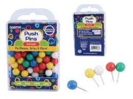 96 Units of 100pc. Round Push Pins - Push Pins and Tacks