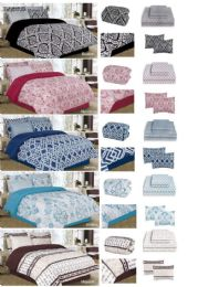 5 Units of QUEEN 8PC BED N BAG:GROUP 2 QUEEN - Comforters & Bed Sets