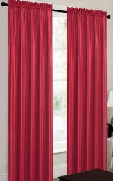 24 Units of TERRI RED RODPOCKET PANEL - Home Decor