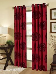 24 Units of BERTHA GROMMET PANEL RED WINDOW TREATMENT - Home Decor