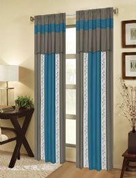 24 Units of MIA TEAL ROD POCKET PANEL WITH ATTACHED VALANCE - Home Decor