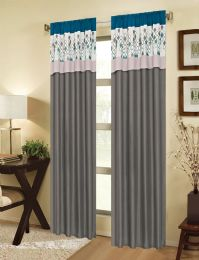 24 Units of ECLIPSE TEAL RODPOCKET PANEL WITH ATTACHED VALANCE - Home Decor
