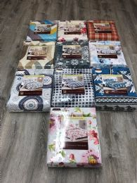 10 Units of MAJESTIC PRINTED 3 PIECE QUILT SET ASSORTED IN QUEEN - Fleece & Sherpa Blankets