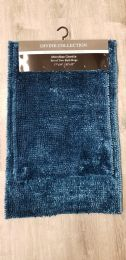 12 Units of DIVINE BATHROOM RUGS SET IN BLUE - Shower Accessories