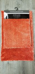 12 Units of DIVINE BATHROOM RUGS SET IN CORAL - Shower Accessories