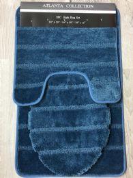 12 Units of ATLANTA BATHROOM RUG SET IN SMOKE BLUE - Bath Mats