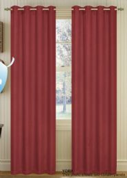 24 Units of YORK BURGANDY BLACKOUT GROMMET PANEL - Home Decor