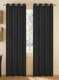 24 Units of YORK BLACK BLACKOUT GROMMET PANEL - Home Decor