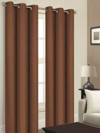 24 Units of YORK BLACKOUT GROMMET WINDOW PANEL IN BROWN - Home Decor