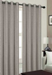 24 Units of TRIBECA BLACKOUT GROMMET WINDOW PANEL IN SILVER - Home Decor