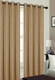 24 Units of TRIBECA BLACKOUT GROMMET WINDOW PANEL IN CAMEL - Home Decor