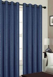 24 Units of TRIBECA BLACKOUT GROMMET WINDOW PANEL IN NAVY - Home Decor