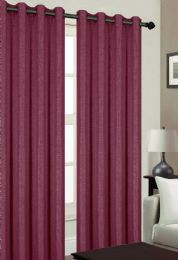 24 Units of TRIBECA BLACKOUT GROMMET WINDOW PANEL IN BURGANDY - Home Decor