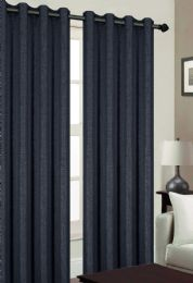 24 Units of TRIBECA BLACKOUT GROMMET WINDOW PANEL IN BLACK - Home Decor