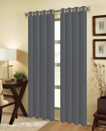 24 Units of JEANNIE BLACKOUT GROMMET WINDOW PANEL IN GREY - Home Decor