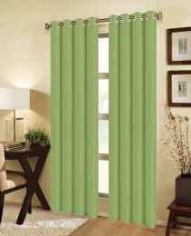 24 Units of JEANNIE BLACKOUT GROMMET WINDOW PANEL IN SAGE - Home Decor
