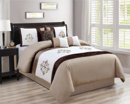 4 Units of COLLINS QUEEN SIZE BEIGE 7 PIECE BEDDING SET - Comforters & Bed Sets