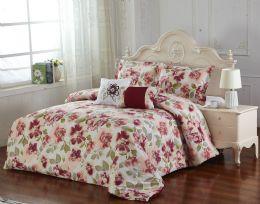 4 Units of ELISA 5 PIECE COMFORTER SET QUEEN SIZE - Comforters & Bed Sets