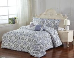 4 Units of CLINTON 5 PIECE COMFORTER SET QUEEN SIZE - Comforters & Bed Sets