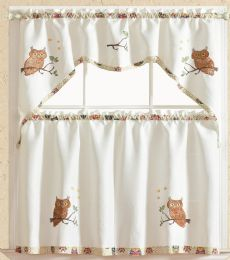 24 Units of WHOOLIO KITCHEN WINDOW 3 PIECE SET - Home Decor