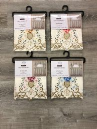 24 Units of VIENNA KITCHEN WINDOW CURTAIN 3 PIECE SET - Home Decor