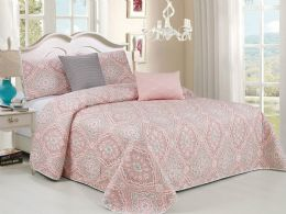 4 Units of LUISA KING 5 PIECE BEDSPREAD SET - Comforters & Bed Sets