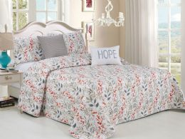 4 Units of HILLSBORO KING 5 PIECE BEDSPREAD SET - Comforters & Bed Sets