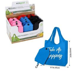 48 Units of Reusable Folding Shopping Bag - Tote Bags & Slings