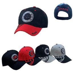 36 Units of Akron Shadow Base Ball Cap - Baseball Caps & Snap Backs