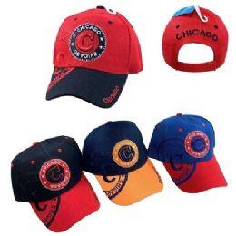 36 Units of Chicago Shadow Base Ball Cap - Baseball Caps & Snap Backs