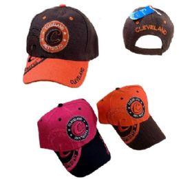 36 Units of Cleveland Shadow Base Ball Cap - Baseball Caps & Snap Backs