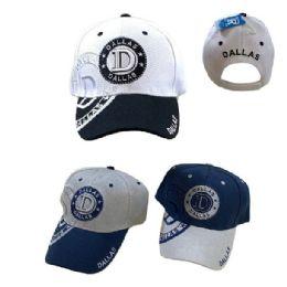 36 Units of Dallas Shadow Base Ball Cap - Baseball Caps & Snap Backs