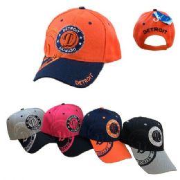 36 Units of Detroit Shadow Base Ball Cap - Baseball Caps & Snap Backs