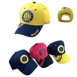 36 Units of Michigan Shadow Base Ball Cap - Baseball Caps & Snap Backs