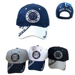 36 Units of New York Shadow Base Ball Cap - Baseball Caps & Snap Backs