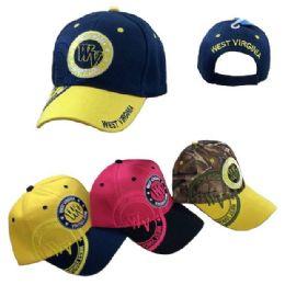 36 Units of West Virginia Shadow Base Ball Cap - Baseball Caps & Snap Backs
