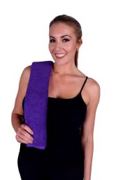 36 Units of PURPLE COLORED HAND TOWEL - Towels