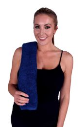 36 Units of BLUE COLORED HAND TOWEL - Towels