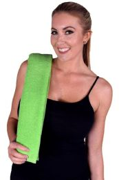 36 Units of LIME GREEN COLORED HAND TOWEL - Towels